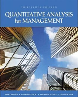 Quantitative Analysis for Management 13th Edition